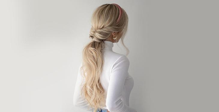 مدل موی دم اسبی برای عروسی