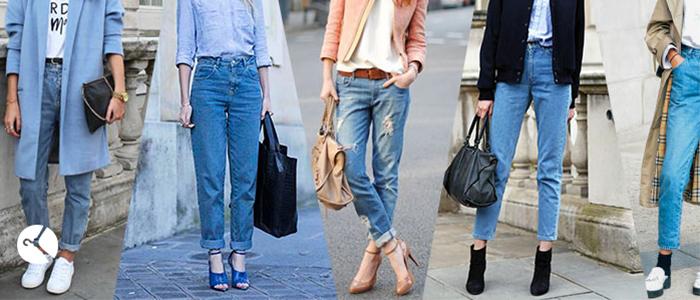 انواع مدلهای شلوار جین زنانه (۶ مدل)