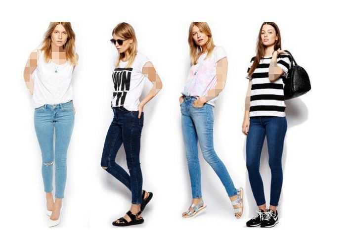 شلوار جین زنانه اسکینی (Skinny Jeans)