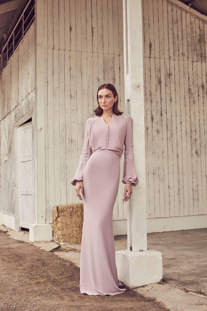 لباس مجلسی بلند پوشیده ترند 2020