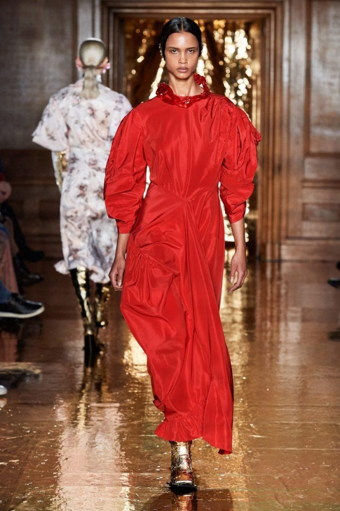 لباس مجلسی بلند پوشیده آستین پفی از برند Preen by Thornton Bregazzi