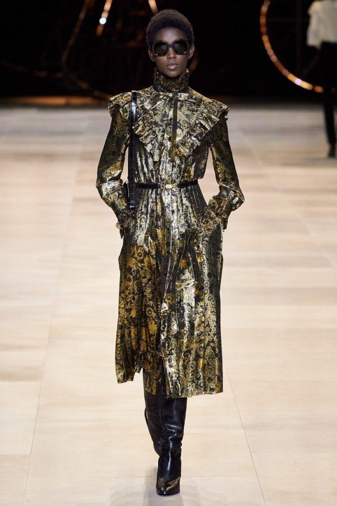 مدل پیراهن مجلسی پوشیده شاینی از برند Celine