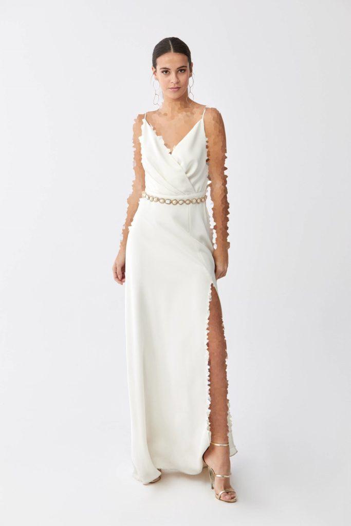 لباس مجلسی دوبنده و چاکدار از برند رومن