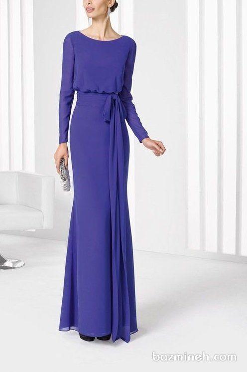 مدل جدید لباس مجلسی بلند پوشیده حریر