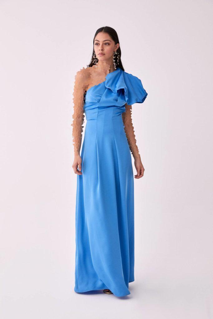 لباس مجلسی بلند با یقه رومی از برند رومن
