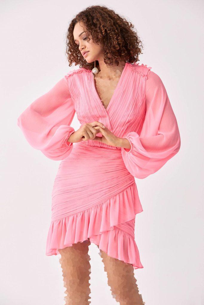 لباس مجلسی آستین پفی از برند رومن
