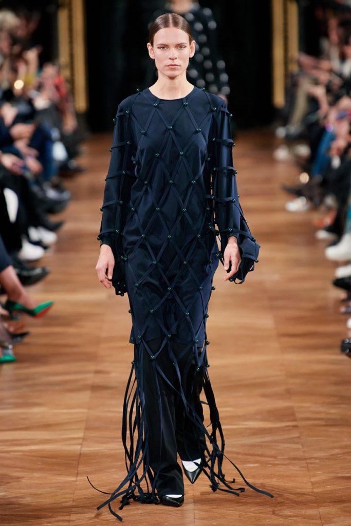 لباس مجلسی بلند پوشیده ریشه دار از برند Stella McCartney