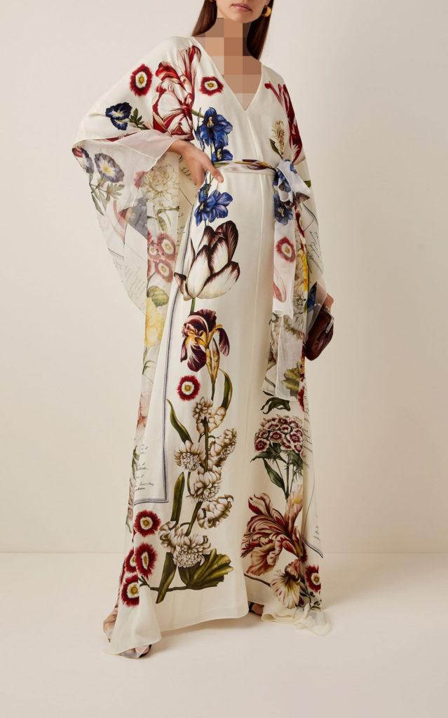 پیراهن مجلسی بلند پوشیده کیمونویی