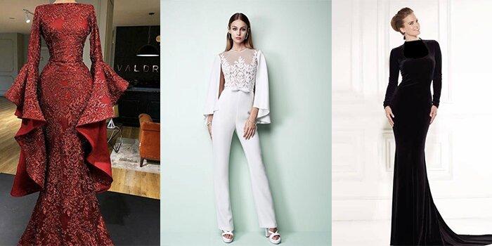 مدل های لباس مجلسی بلند پوشیده 2019 (به همراه عکس و تصویر)