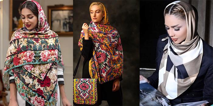 مدل های جدید شال و روسری سال 2019 و 98 (ترک نخی قواره بزرگ ساتن و طرح های جدید )