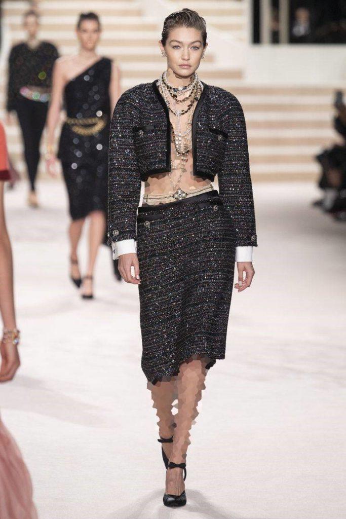 کت و دامن مجلسی نیم تنه از برند Chanel