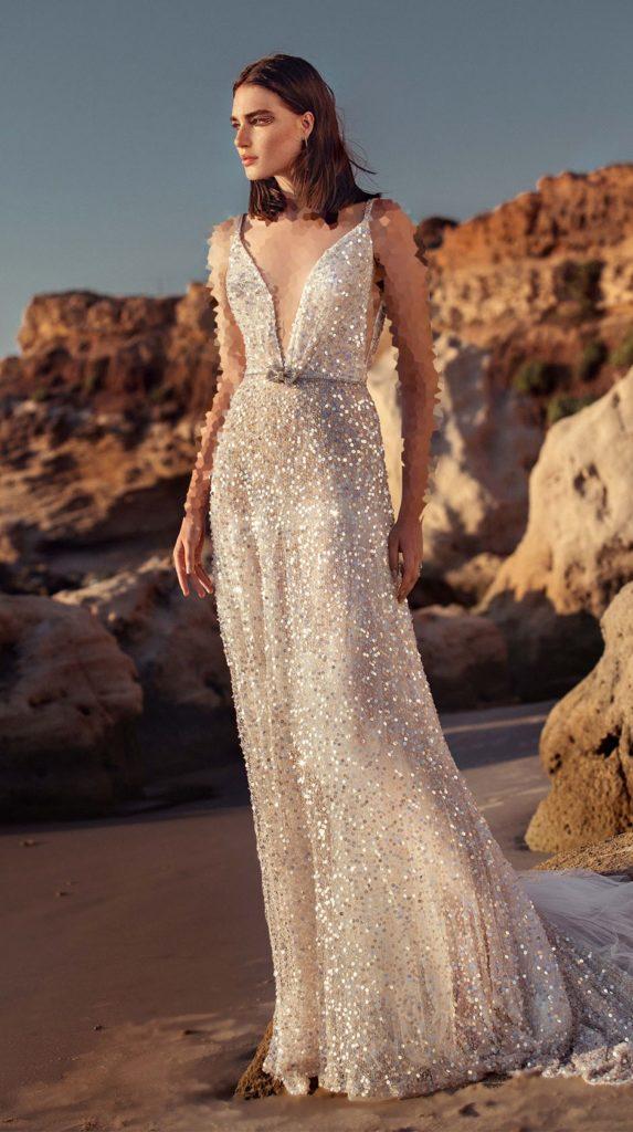لباس عروس پولکی براق ترند 2020