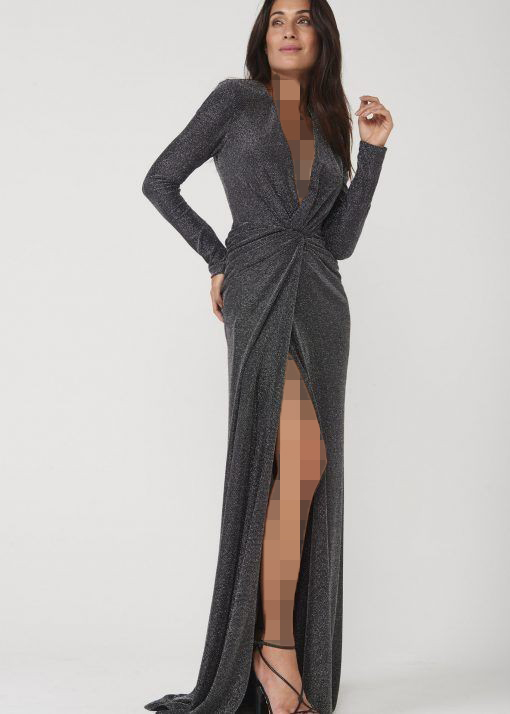 لباس مجلسی لمه چاک دار