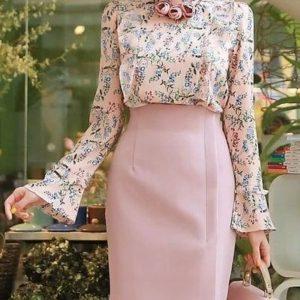 لباس مجلسی زنانهکرپ گلدار