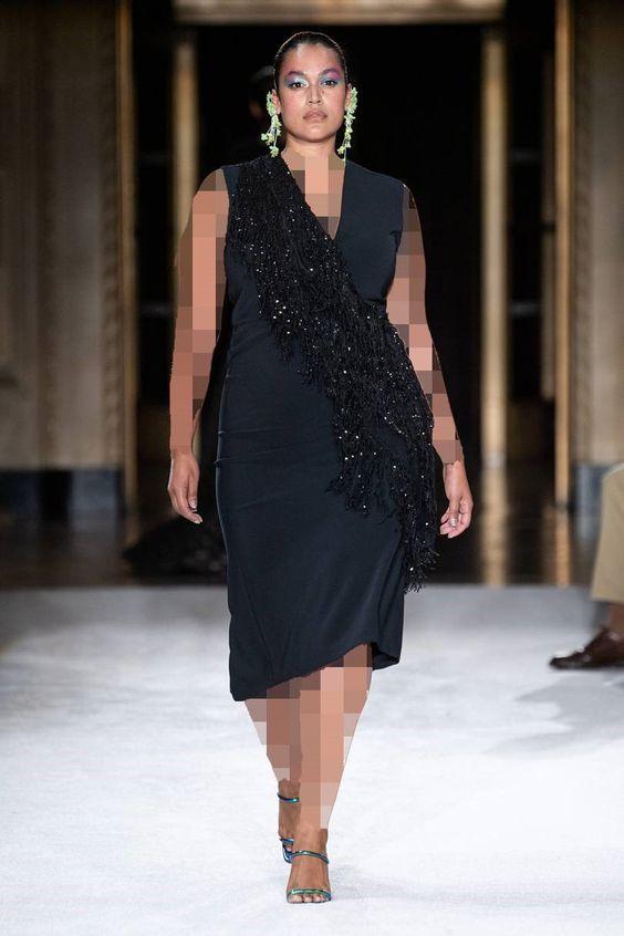 مدل لباس مجلسی کرپ پلاس سایز برند کریستین سیریانو