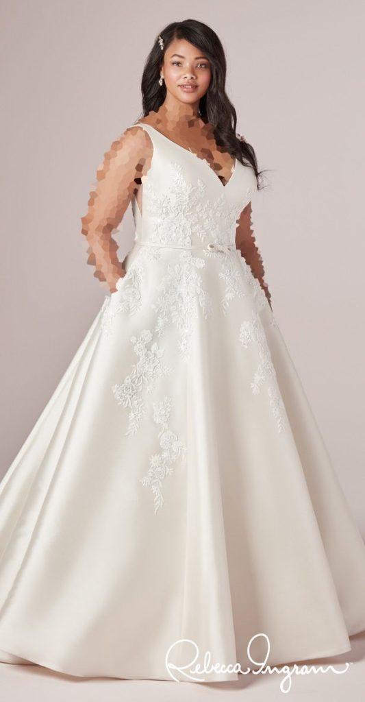 مدل لباس عروس برای چاقی سینه ها و بالاتنه
