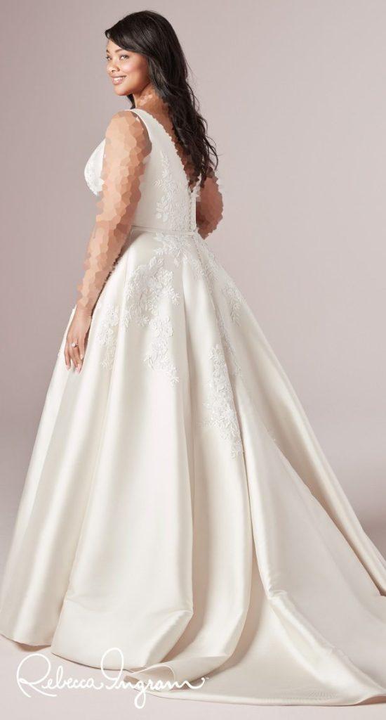 مدل لباس عروس برای افراد چاق (سایزبزرگها چه لباس عروسی بپوشند؟)