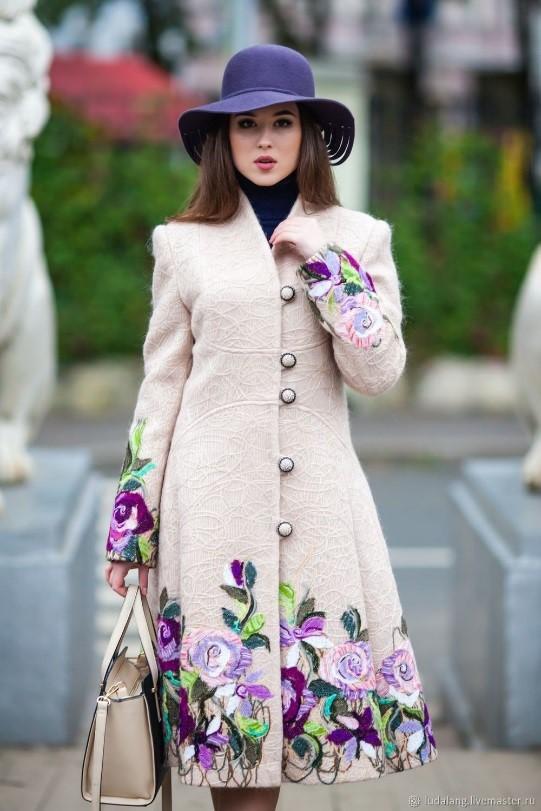مدل مانتو گل گلی زمستانی