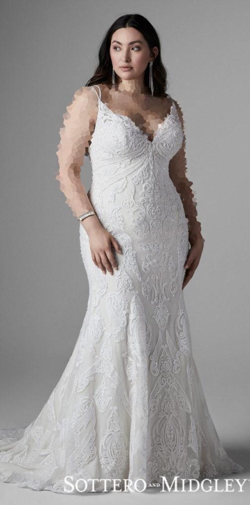 مدل جدید لباس عروس برای افراد چاق