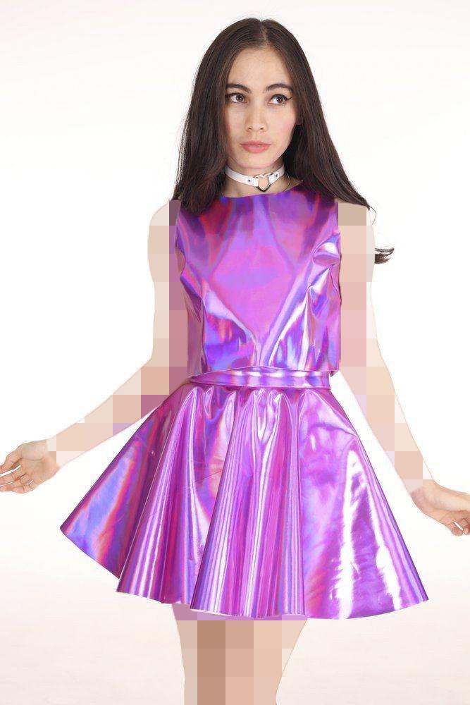 پیراهن مجلسی هولوگرام دخترانه