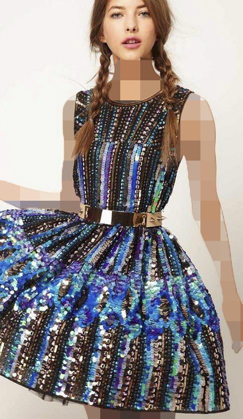 لباس مجلسی هولوگرام مشکی