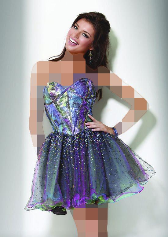 لباس مجلسی هولوگرام عروسکی