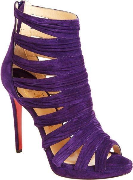 کفش بنفش با لباس مجلسی مشکی