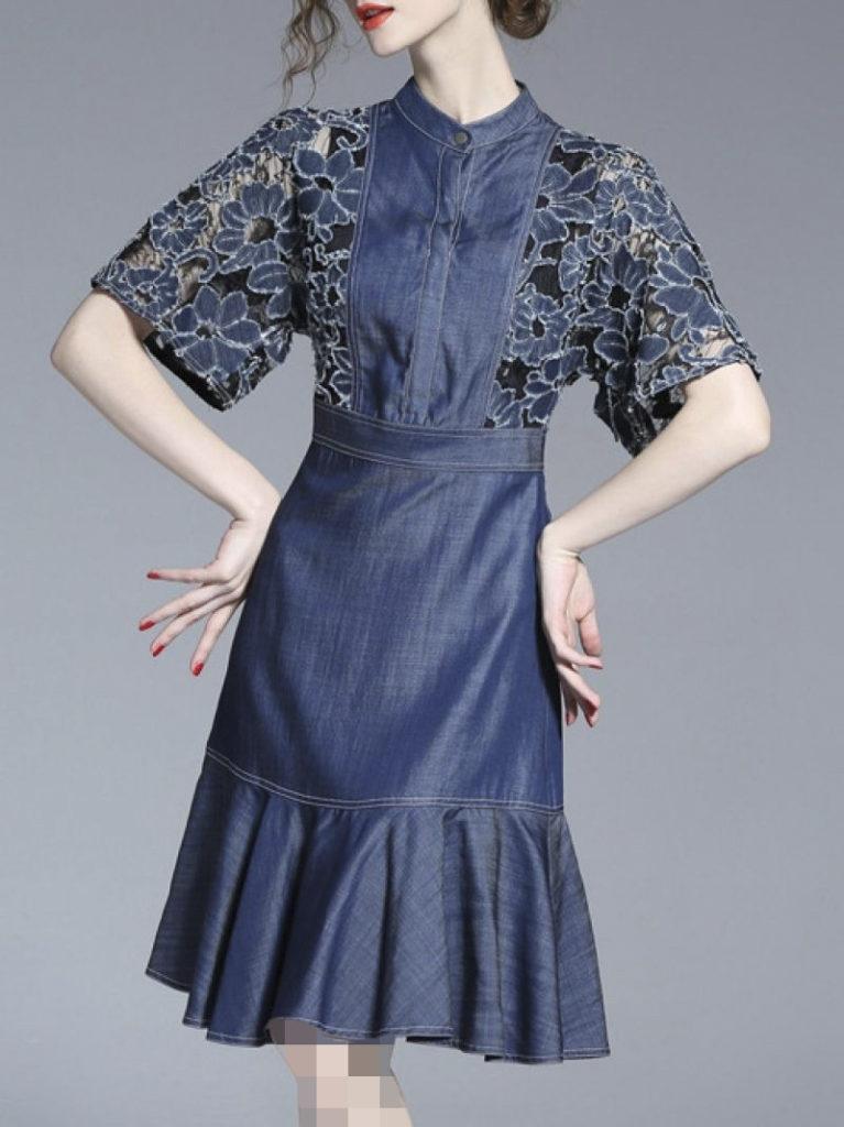 لباس مجلسی لی ترکیبی