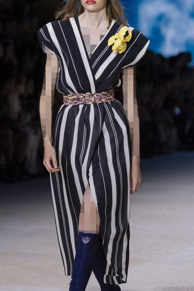 لباس راهراه چپ و راستی برند لویی ویتون