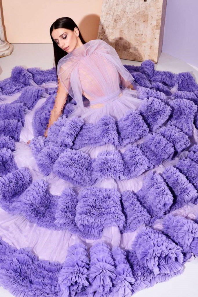 لباس مجلسی پف دار کریستین سیریانو