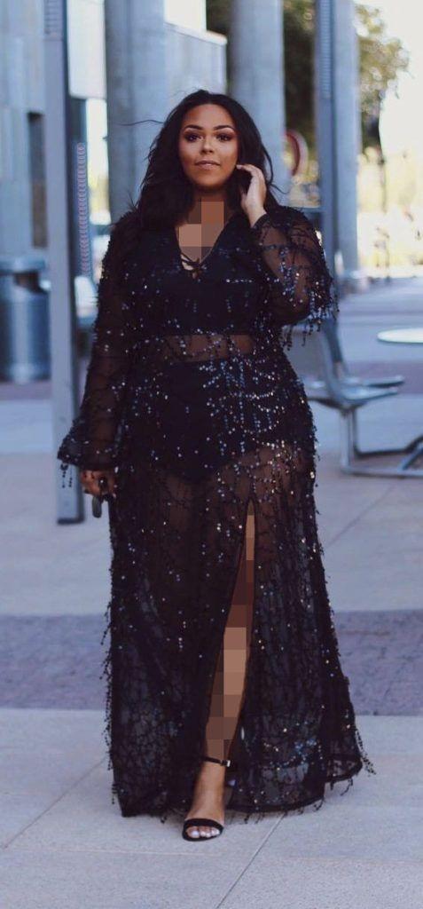 لباس مجلسی دو تیکه ای برای خانم های خیلی چاق