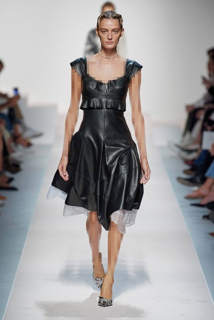 لباس مجلسی چرم کوتاه برند ارمانا اسکروینا