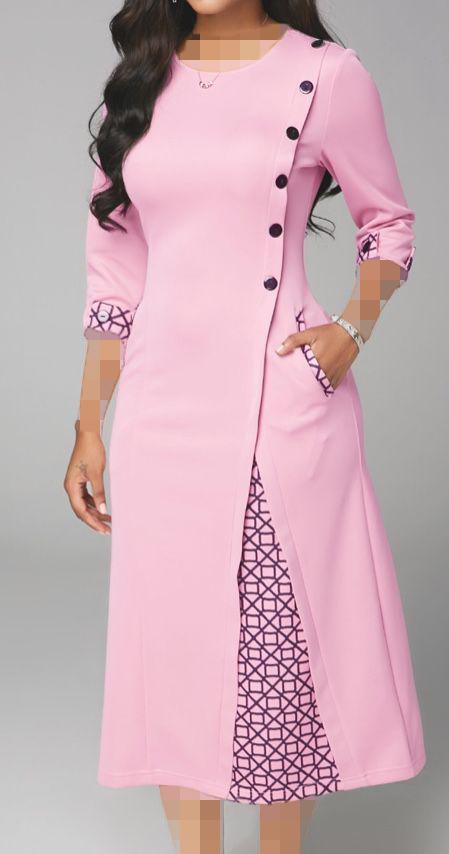 لباس مجلسی چپ و راستی یقه گرد