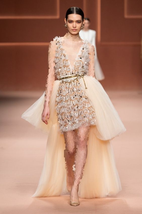 مدل لباس مجلسی پولکی کوتاه ترند 2020