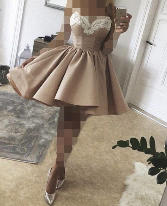 مدل لباس مجلسی کوتاه با دامن پفی