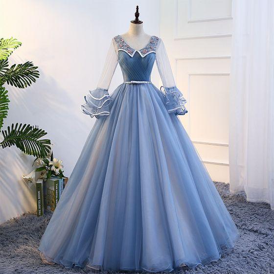 لباس پف دار مجلسی آستین بلند