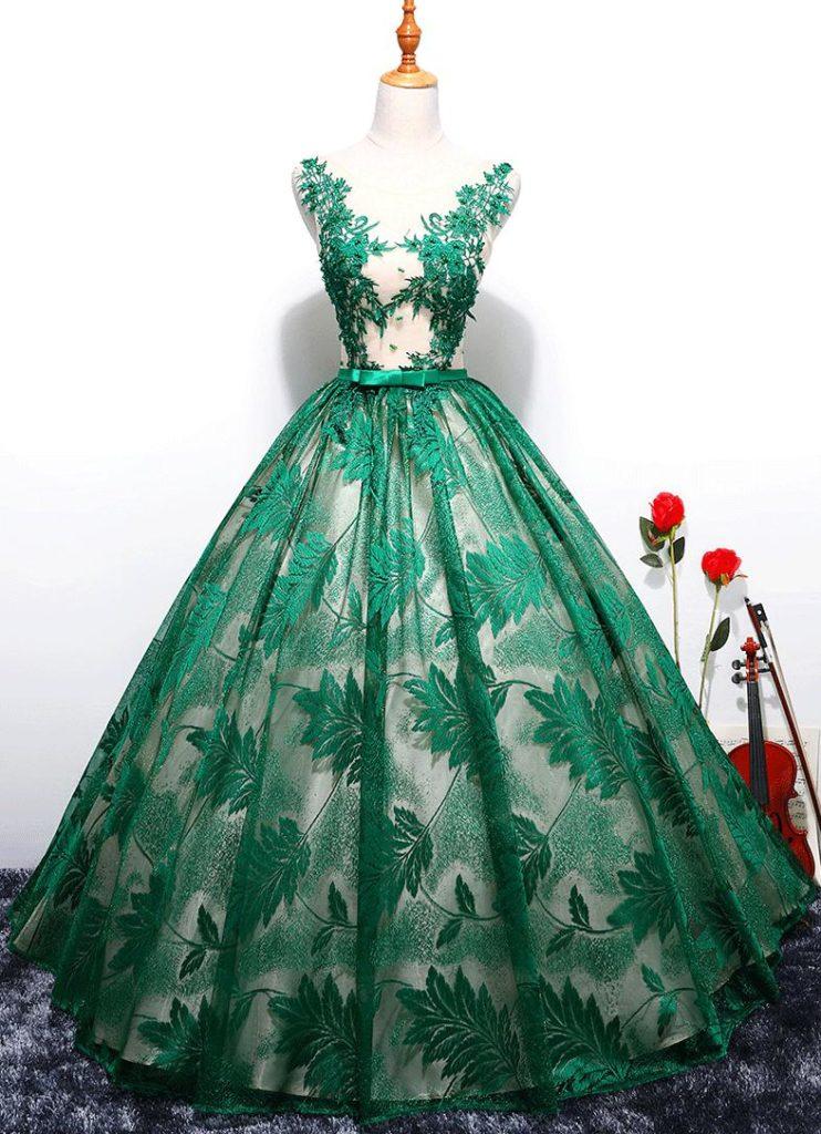 لباس پف دار مجلسی یقه هفت