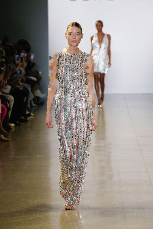 مدل یقه گرد لباس مجلسی