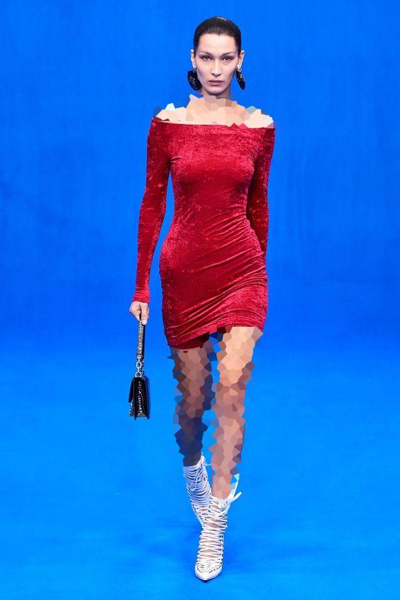 مدل یقه قایقی لباس مجلسی