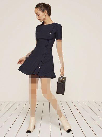 مدل جدید لباس مجلسی کوتاه دکمه دار