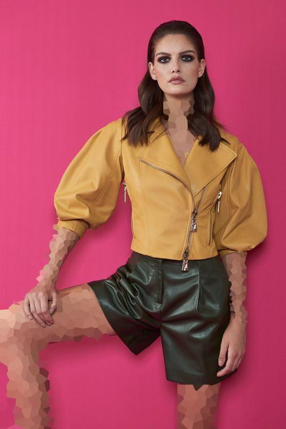 لباس چرم کوتاه ترند 2020