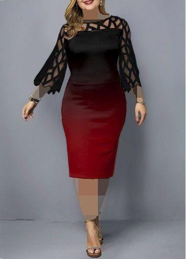 مدل لباس مجلسی برای افراد چاق