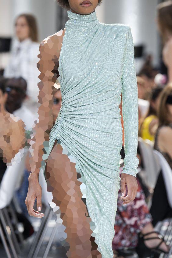 مدل یقه ایستاده لباس مجلسی