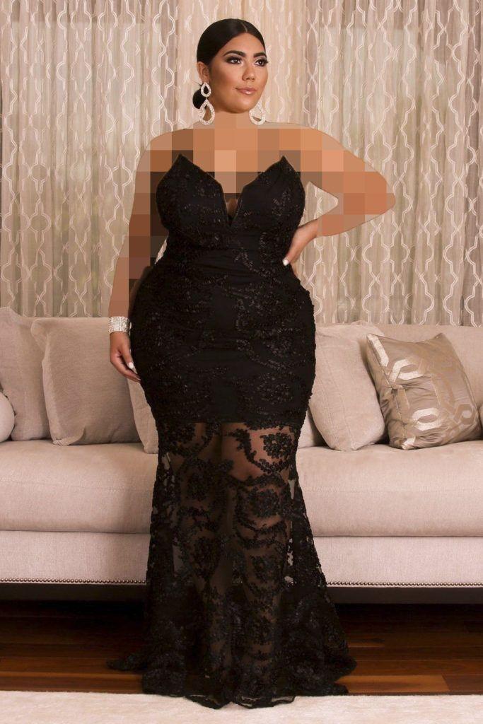 یقه دکلته / لباس مجلسی برای افراد چاق