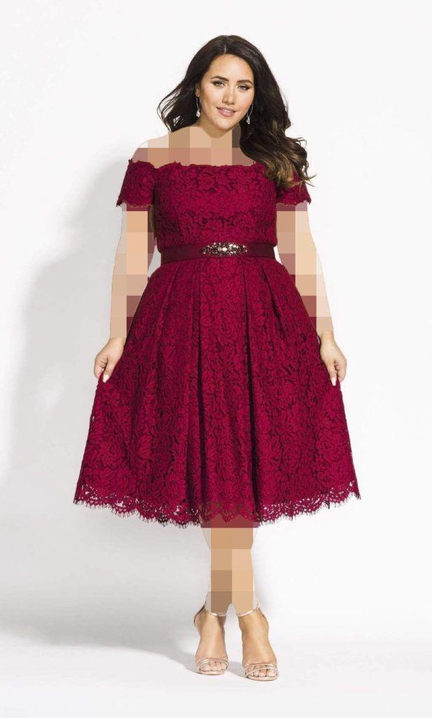 مدل لباس مجلسی گیپور پلاس سایز