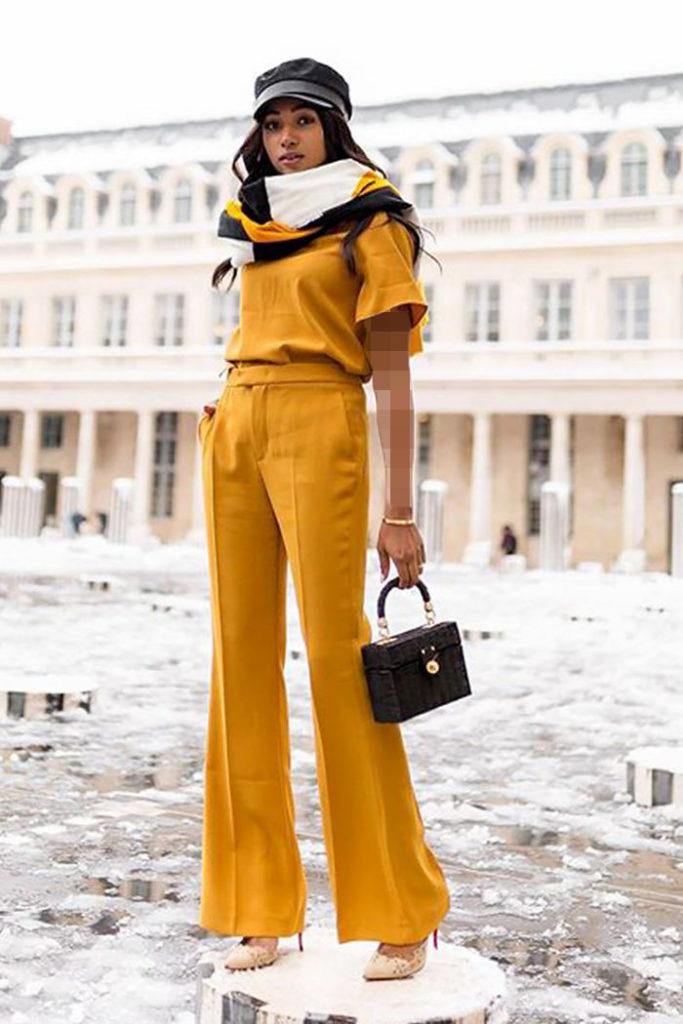 لباس مجلسی تک رنگ مناسب برای افراد کوتاه قد