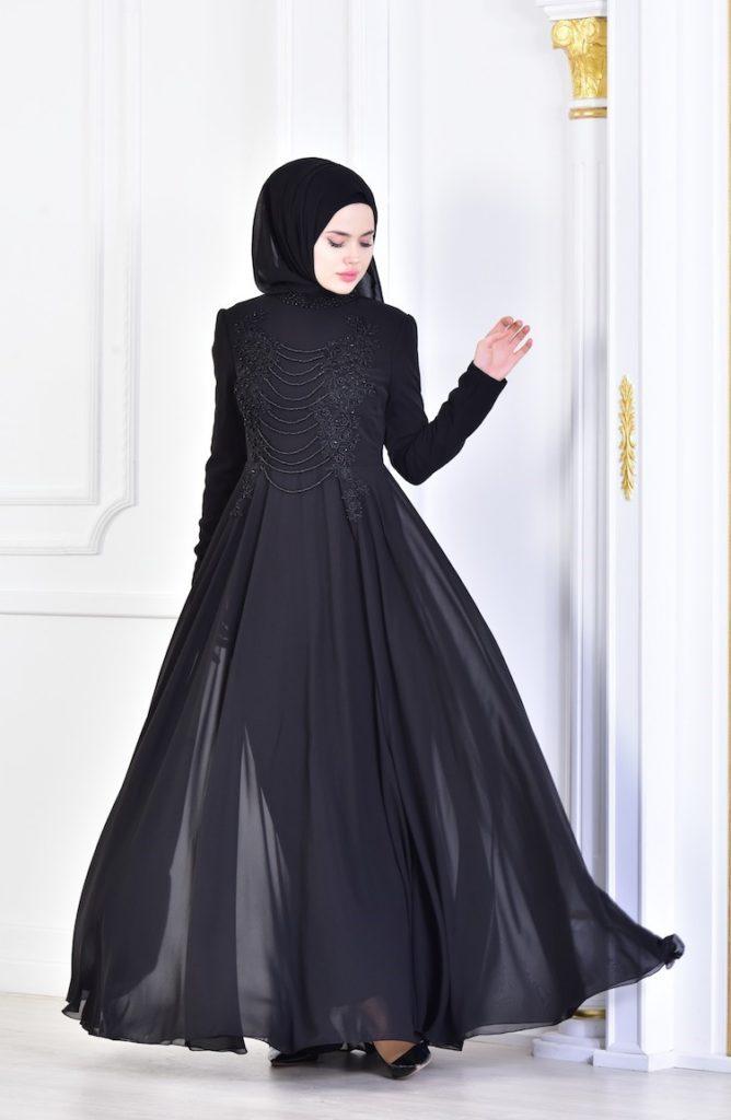 لباس مجلسی پوشیده ژورنالی 2019 ترکیه