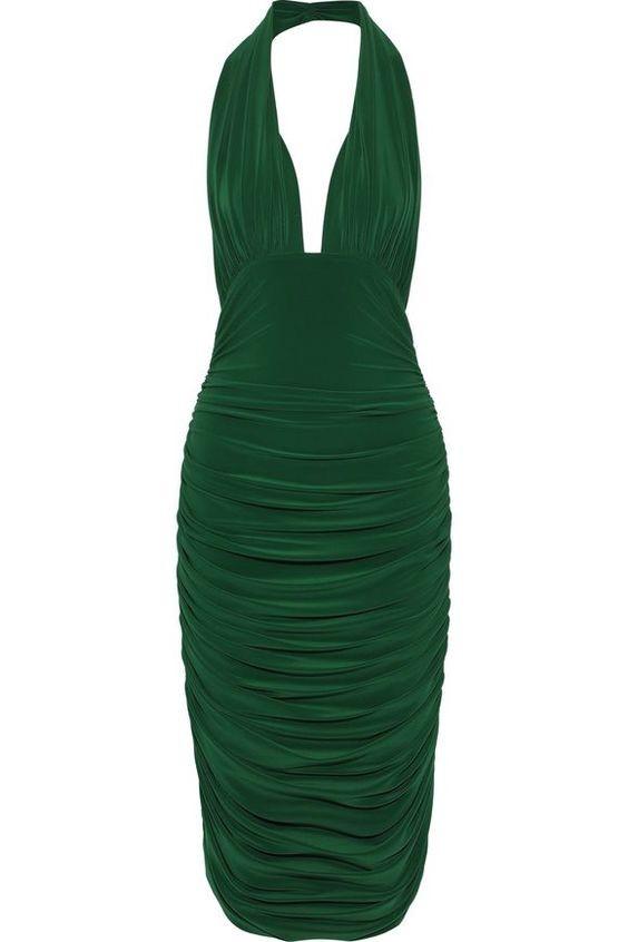 لباس مجلسی ریون مدل یقه هالتری