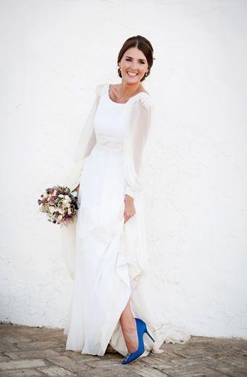 کفش عروس رنگی آبی