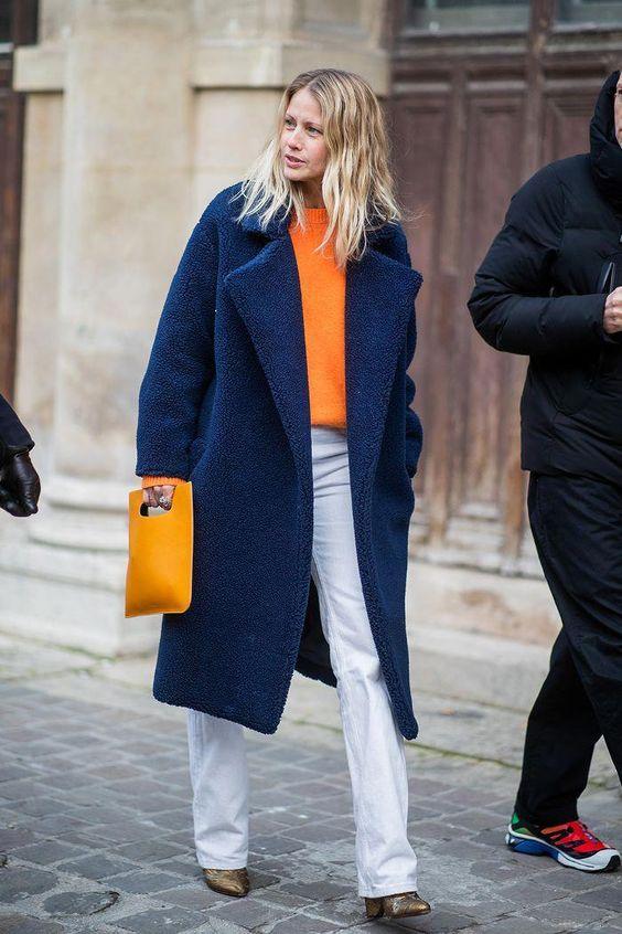 ست رنگ آبی کلاسیک و نارنجی-خانومی